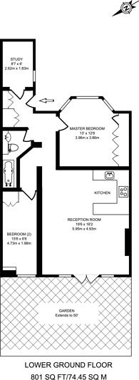 Large floorplan for Oxford Road, Kilburn, NW6