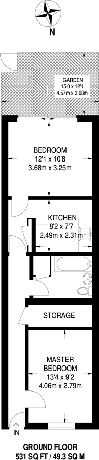 Large floorplan for Girdlestone Walk, Archway, N19