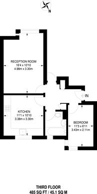 Large floorplan for Sugar Loaf Walk, Bethnal Green, E2