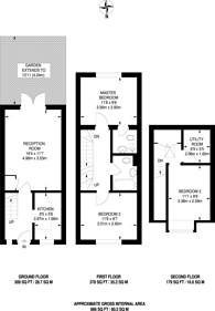 Large floorplan for Gloucester Square, Haggerston, E2