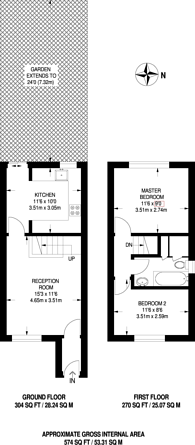 Large floorplan for Abbotswood Road, East Dulwich, SE22