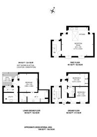 Large floorplan for Royal Crescent Mews, Holland Park, W11