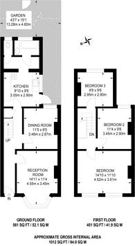 Large floorplan for Lancing Road, Croydon, CR0