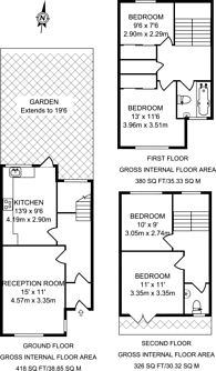 Large floorplan for Laburnum Street, Hoxton, E2