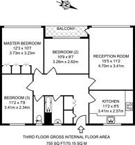 Large floorplan for Tompion Street, Clerkenwell, EC1V