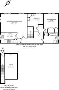 Large floorplan for Honiton Gardens, Mill Hill East, NW7