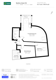 Large floorplan for Devonshire House, Isle Of Dogs, E14