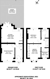 Large floorplan for Malden Avenue, South Norwood, SE25