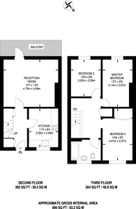 Large floorplan for Boathouse Walk, Peckham, SE15