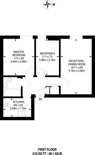 Large floorplan for Leeland Terrace, West Ealing, W13