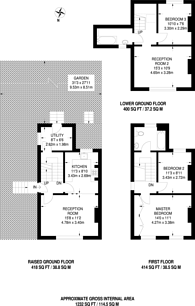 Large floorplan for Talfourd Place, Peckham Rye, SE15