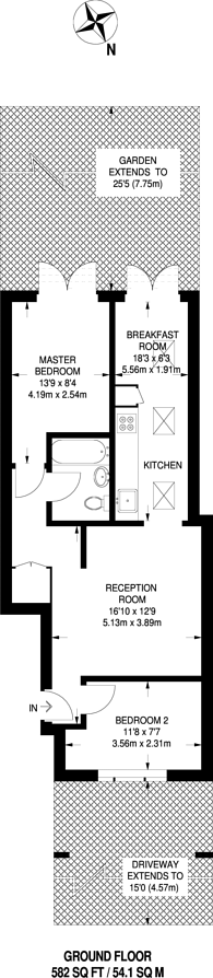 Large floorplan for Wetherill Road, Muswell Hill, N10