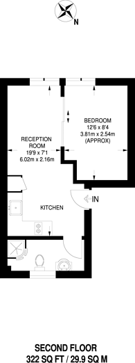 Large floorplan for Bowmans Mews, Holloway, N7
