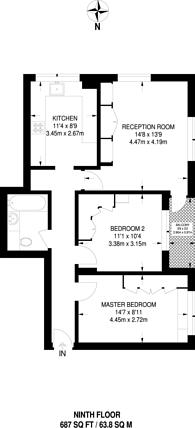 Large floorplan for Elizabeth Blackwell House, Wood Green, N22