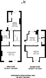 Large floorplan for Grange Park Road, Thornton Heath, CR7