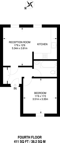 Large floorplan for Lupus Street, Pimlico, SW1V