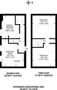 Large floorplan for Liverpool Road, Barnsbury, N1