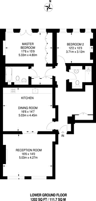 Large floorplan for Little Russell Street, Bloomsbury, WC1A