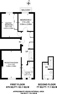 Large floorplan for Arundel Gardens, Westbourne Grove, W11