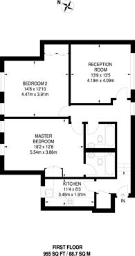 Large floorplan for Borough Road, Isleworth, TW7
