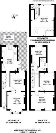 Large floorplan for Spa Hill, Upper Norwood, SE19
