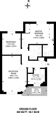 Large floorplan for Galleons View, Isle Of Dogs, E14