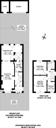 Large floorplan for Hillcrest Road, Bromley, BR1