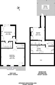 Large floorplan for Bina Gardens, South Kensington, SW5
