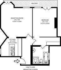 Large floorplan for Park Close, Knightsbridge, SW1X
