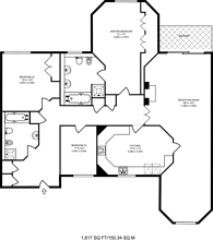 Large floorplan for The Water Gardens, Coombe, KT2