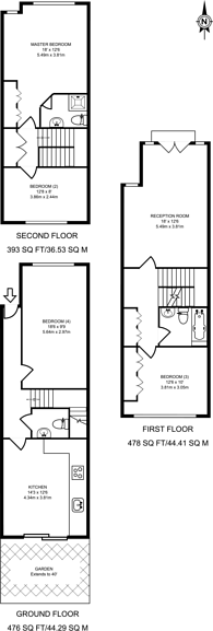 Large floorplan for Myddleton Avenue, Finsbury Park, N4