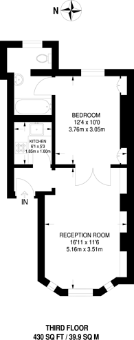 Large floorplan for Carrington Street, Mayfair, W1J