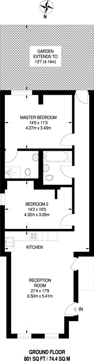 Large floorplan for Carshalton Road, Sutton, SM1