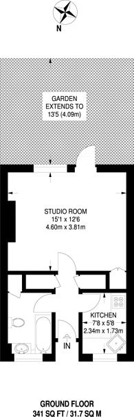 Large floorplan for Ellen Wilkinson House, Fulham Broadway, SW6