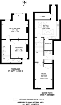 Large floorplan for Gosberton Road, Nightingale Triangle, SW12