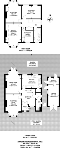 Large floorplan for Audley Road, Ealing, W5
