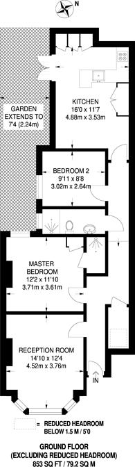 Large floorplan for Bangalore Street, West Putney, SW15