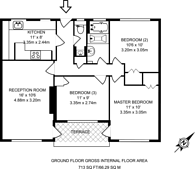 Large floorplan for Lyndale, Child's Hill, NW2