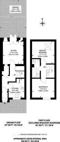 Large floorplan for Tooting Broadway, Tooting, SW17