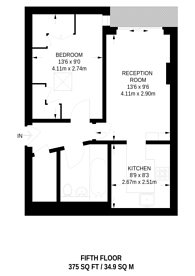 Large floorplan for Lithos Road, West Hampstead, NW3