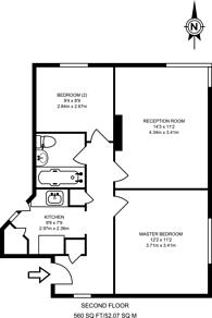 Large floorplan for Benhurst Court, Streatham Common, SW16