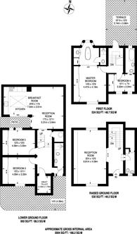 Large floorplan for Clareville Street, South Kensington, SW7