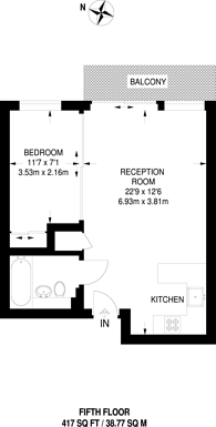 Large floorplan for Heritage Avenue, Colindale, NW9