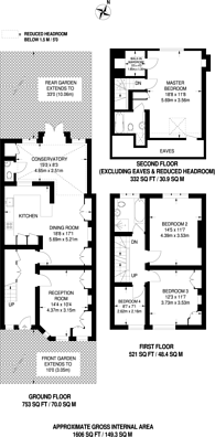 Large floorplan for St Pauls Road, Richmond, TW9