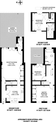 Large floorplan for Albert Road, Richmond, TW10