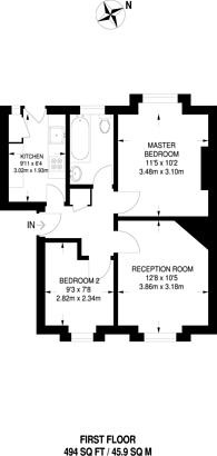 Large floorplan for Beresford Road, New Malden, KT3