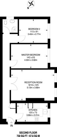 Large floorplan for St James's Road, Croydon, CR0