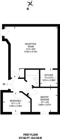 Large floorplan for Kilburn Lane, Queen's Park, W10