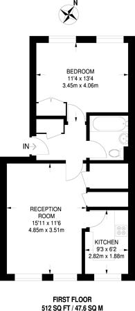 Large floorplan for Loughborough Park, Brixton, SW9