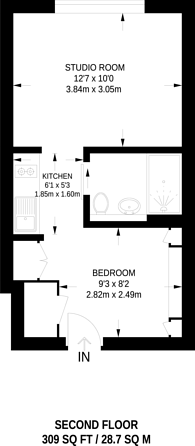 Large floorplan for Printworks, Stockwell, SW9